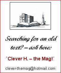 Searching for an old text? Ask via Clever H., advertise here!
