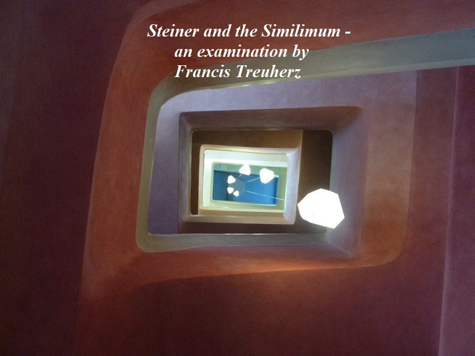 Steiner and the Similimum - an examination by Francis Treuherz